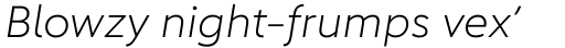 Carnero Light Italic sample