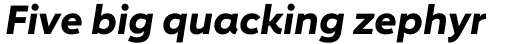 Carnero Bold Italic sample