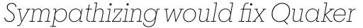 Breton Thin Italic sample