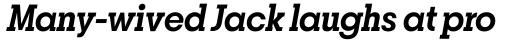 Breton Semi Bold Italic sample