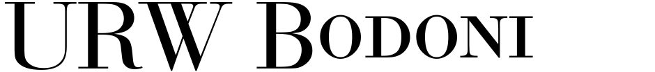 Click to view  URW Bodoni No 1 font, character set and sample text