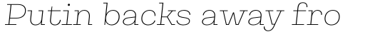 Galeria Thin Italic sample