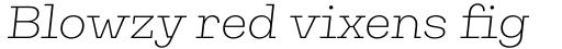 Galeria Extra Light Italic sample
