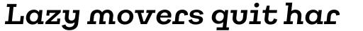 Galeria Alt Semi Bold Italic sample