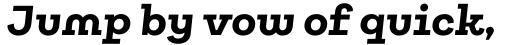 Galeria Alt Bold Italic sample