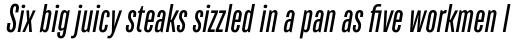 TT Bluescreens Medium Italic sample