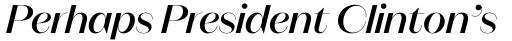 Magnat Poster Medium Italic sample