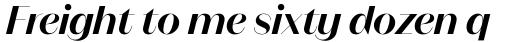 Magnat Poster SemiBold Italic sample