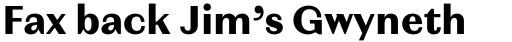 Magnat Text Bold sample