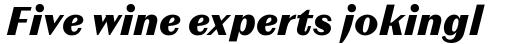Magnat Text ExtraBold Italic sample