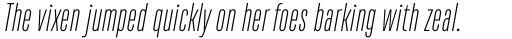 TT Bluescreens ExtraLight Italic sample