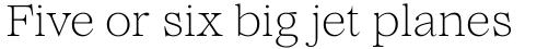 Lovelace Text Extralight sample