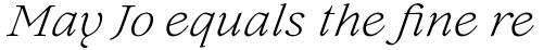 Lovelace Text Light Italic sample