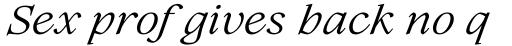 Lovelace Text Regular Italic sample