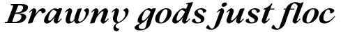 Lovelace Text Bold Italic sample