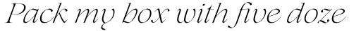 Lovelace Extralight Italic sample