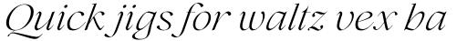 Lovelace Light Italic sample