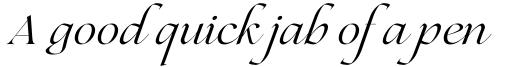 Lovelace Script Italic sample