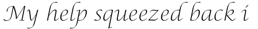Lucida Calligraphy Std Thin sample