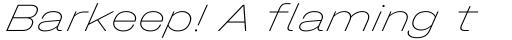 Halvar Breitschrift ExtraThin SuperSlanted sample