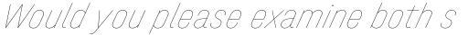 Halvar Engschrift Hairline SuperSlanted sample