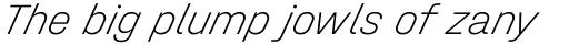Halvar Mittelschrift Thin SuperSlanted sample