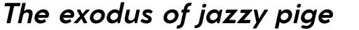 Cocomat Pro Bold Italic sample