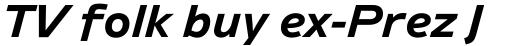 Ambiguity Generous Bold Italic sample