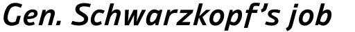 Ambiguity Normate SemiBold Italic sample
