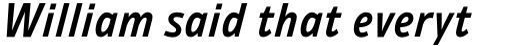 Ambiguity Thrift SemiBold Italic sample