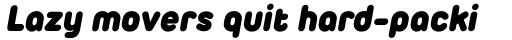 Duepuntozero Pro Heavy Italic sample