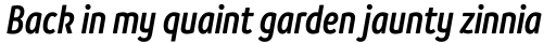 Branding SF Cnd Semi Bold Italic sample