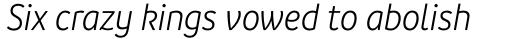 Branding SF Narrow Semi Light Italic sample