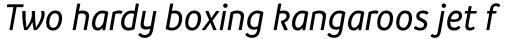 Branding SF Narrow Medium Italic sample