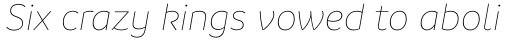 Branding SF Thin Italic sample