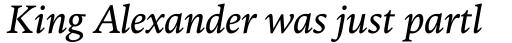 FF Kievit Serif Book Italic sample