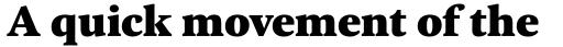 FF Kievit Serif Black sample