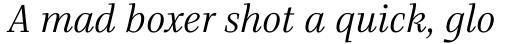 Bridge Text Light Italic sample