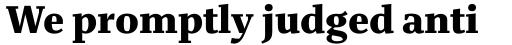 Bridge Text xBold sample