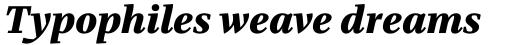 Bridge Text xBold Italic sample