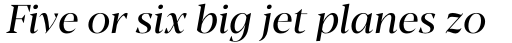 Blacker Pro Display Italic sample