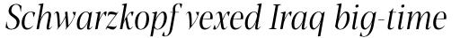 Blacker Pro Display Condensed Light Italic sample