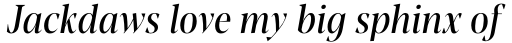 Blacker Pro Display Condensed Italic sample