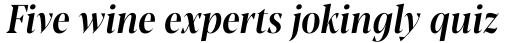Blacker Pro Display Condensed Medium Italic sample