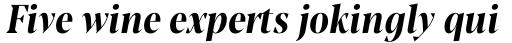 Blacker Pro Display Condensed Bold Italic sample