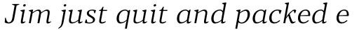 Blacker Pro Text Light Italic sample