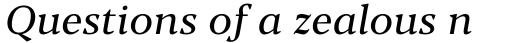 Blacker Pro Text Italic sample