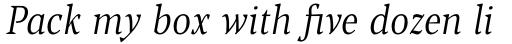 Blacker Pro Text Condensed Light Italic sample