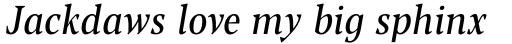 Blacker Pro Text Condensed Italic sample