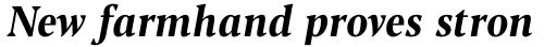 Blacker Pro Text Condensed Bold Italic sample